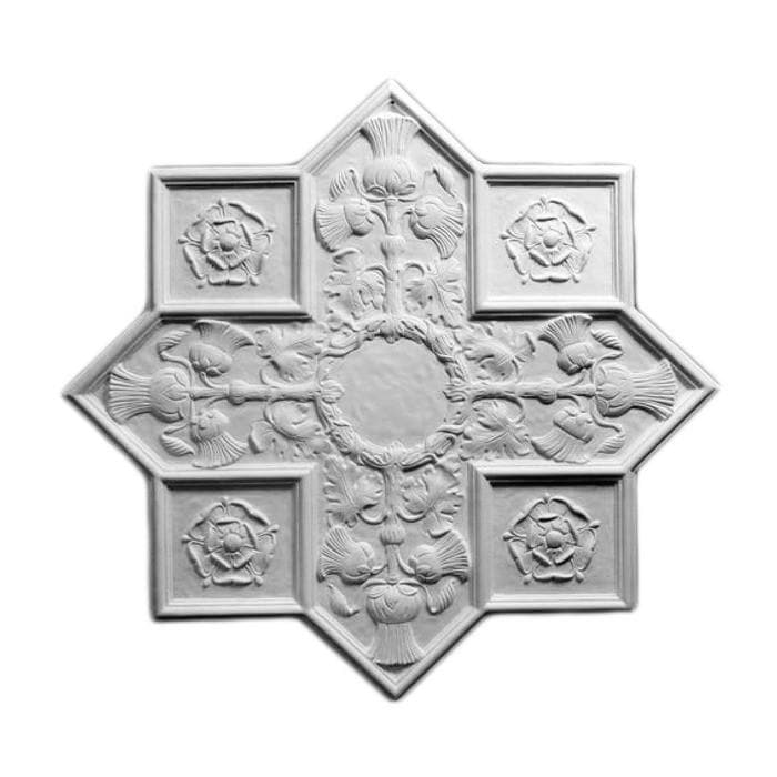 "Renaissance Medallion, Plaster, 27""w x 25 1/2""h x 1/2""d, Made To Order, Not Returnable, Minium Order Amount $300"