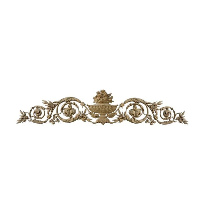 "Louis XVI Floral Cartouche, 54 3/4""w x 12""h x 1""d, Made To Order, Minimum Order Amount $300"