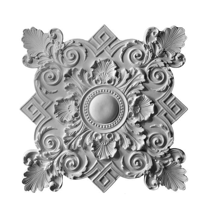 "Louis XIV Medallion, Plaster, 38 1/2""w x 38 1/2""h x 2""d, Made To Order, Not Returnable, Minium Order Amount $300"