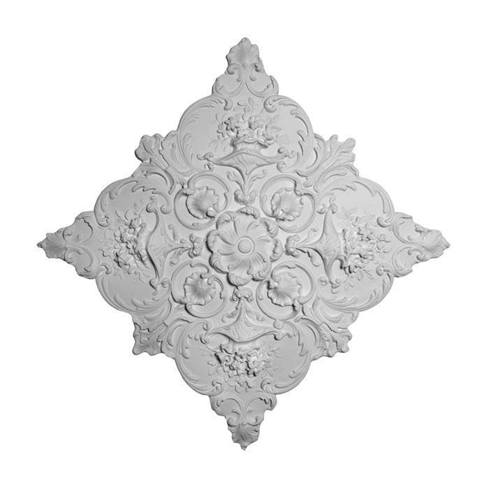 "Louis XV Medallion, Plaster, 34""w x 34""h x 1""d, Made To Order, Minimum Order Amount $300"