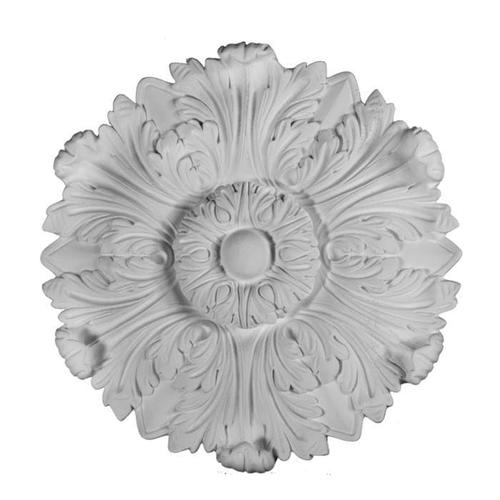 "Roman Medallion, Plaster, 15 1/2""w x 15 1/2""h x 1 1/2""d, Made To Order, Minimum Order Amount $300"