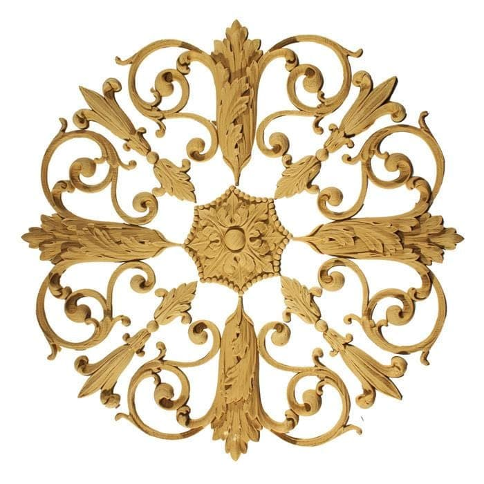 "Empire Rosette Medallion, 15""w x 15""h x 1/2""d, Made To Order, Not Returnable, Minium Order Amount $300"