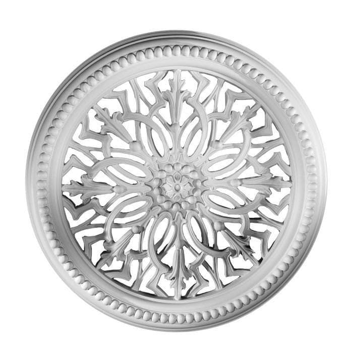 "Medallion, Plaster, 24 3/4""w x 24 3/4""h x 2 1/2""d, MADE TO ORDER, NOT RETURNABLE, MINIMUM ORDER AMOUNT $200"