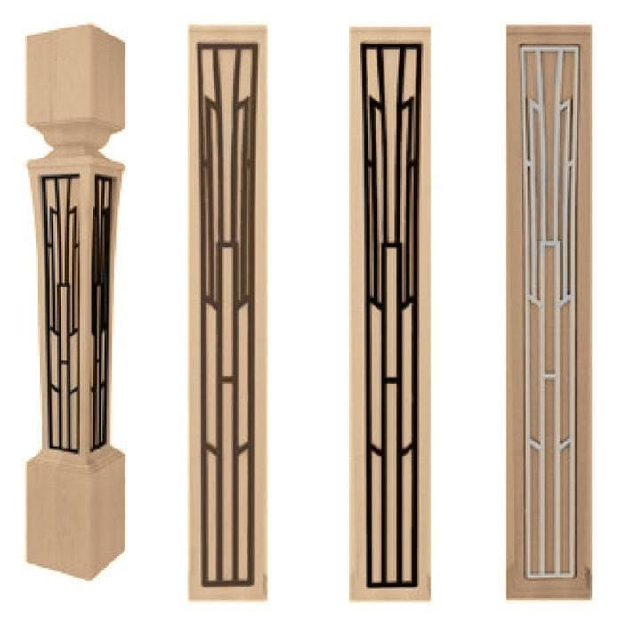 "Basilica Bar Column Insert Set, 3 7/16"" x 1/8"" x 20 7/8"" length"