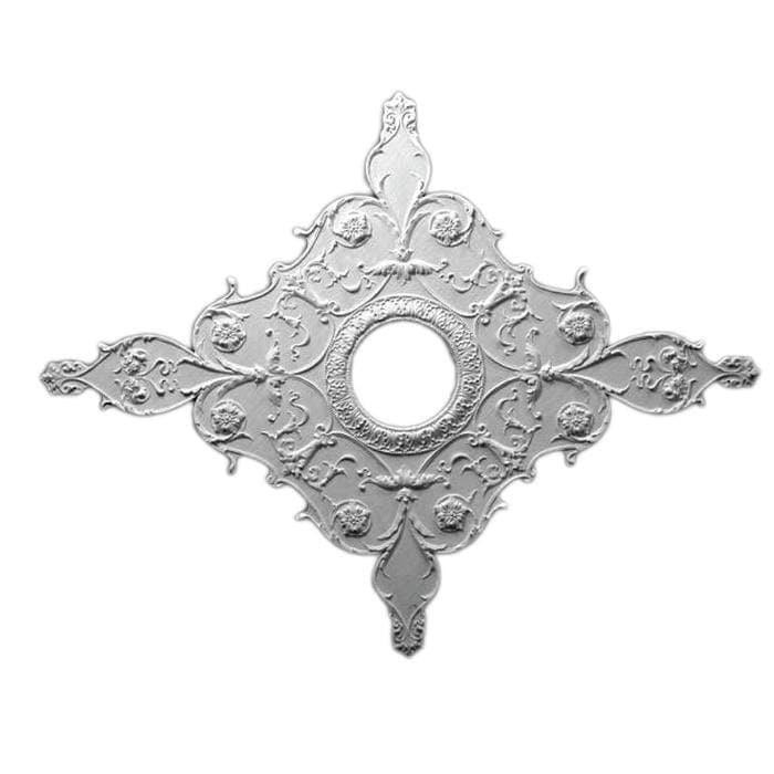 "Italian Medallion, Plaster, 38 1/2""w x 32""h x 11/16""d, Made To Order, Minimum Order Amount $300"