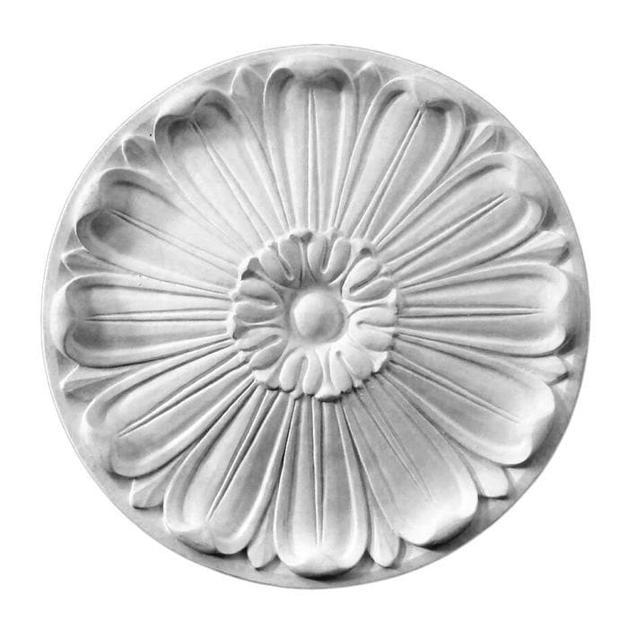 "Classic Medallion, Plaster, 13""w x 13""h x 1""d, MADE TO ORDER, NOT RETURNABLE, MINIMUM ORDER AMOUNT $200"