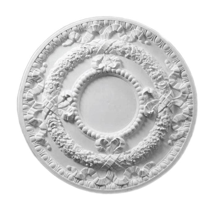 "French Medallion, Plaster, 30 1/2""w x 30 1/2""h x 1 1/4""d, MADE TO ORDER, NOT RETURNABLE, MINIMUM ORDER AMOUNT $200"