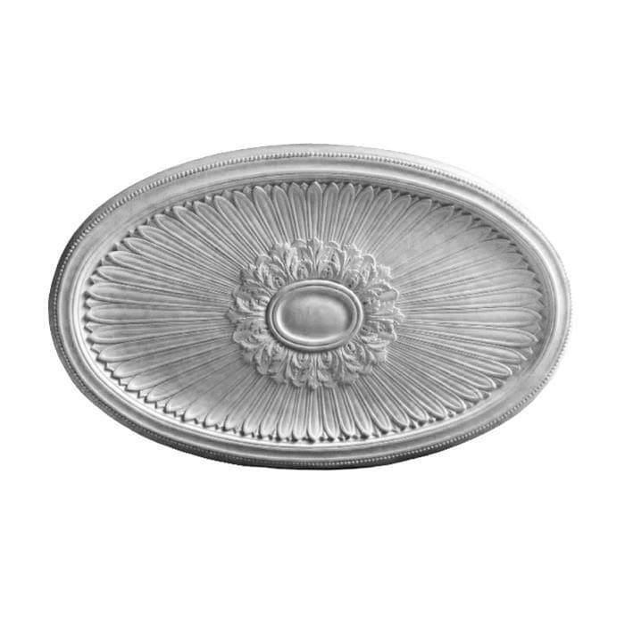 "Louis XIV Oval Medallion, Plaster, 54""w x 33 7/8""h x 1 1/2""d, Made To Order, Minimum Order Amount $300"