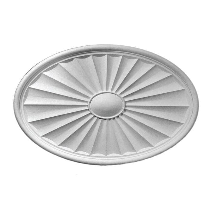 "Oval Medallion, Plaster, 40 1/8""w x 26 1/8""h x 1 3/4""d, Made To Order, Minimum Order Amount $300"
