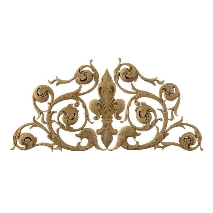 "Italian Fleur de Lis Design, 25 3/4""w x 11 3/4""h x 3/8""d, Made To Order, Not Returnable, Minium Order Amount $300"