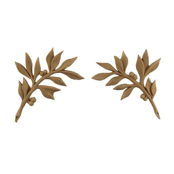 "Louis XVI Leaf Spandrels Onlay, 4""w x 4 3/4""h x 3/16""d, Made To Order, Minimum Order Amount $300"