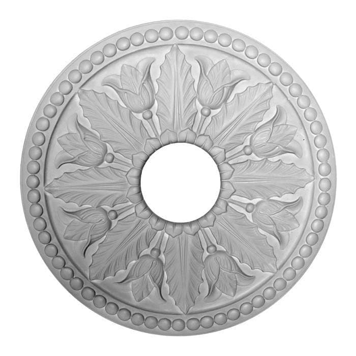 "Greek Medallion, Plaster, 16 1/4""w x 16 1/4""h x 1 1/16""d, Made To Order, Minimum Order Amount $300"