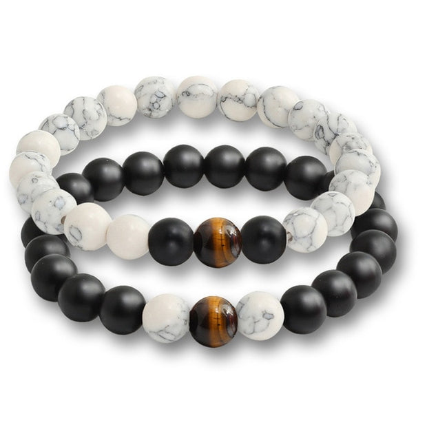 """Him and Her"" Inspired 2 Piece Stone Bracelets"