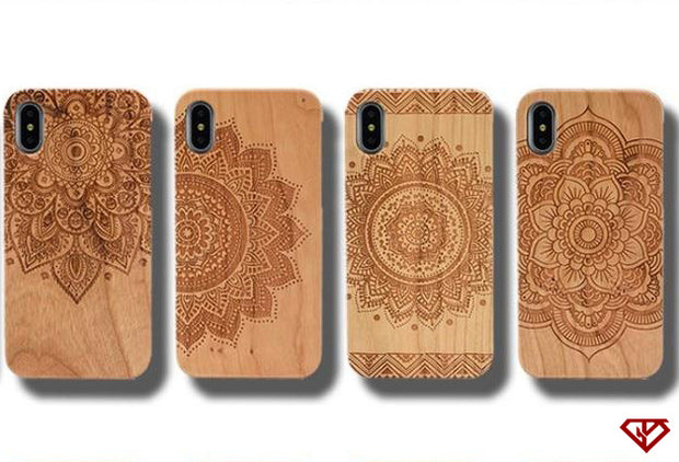 Henna (Mehndi) Designed - Engraved Bamboo Wood iPhone Cases | 50% OFF | Flash Sale