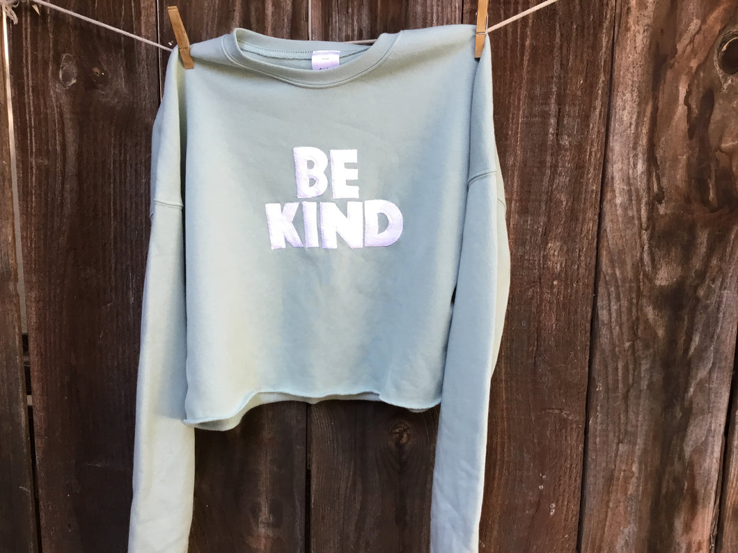 Women's BE KIND Cropped Sweatshirt