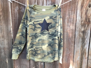 Women's Star French Terry Tee