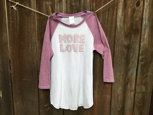 Unisex More Love Baseball Tee