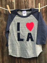 Load image into Gallery viewer, Infant I Love LA Baseball Tee
