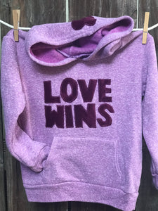 Kid's Love Wins Fleece Hoodie