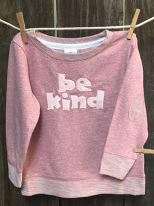 Kids Be Kind French Terry Long Sleeve Tee