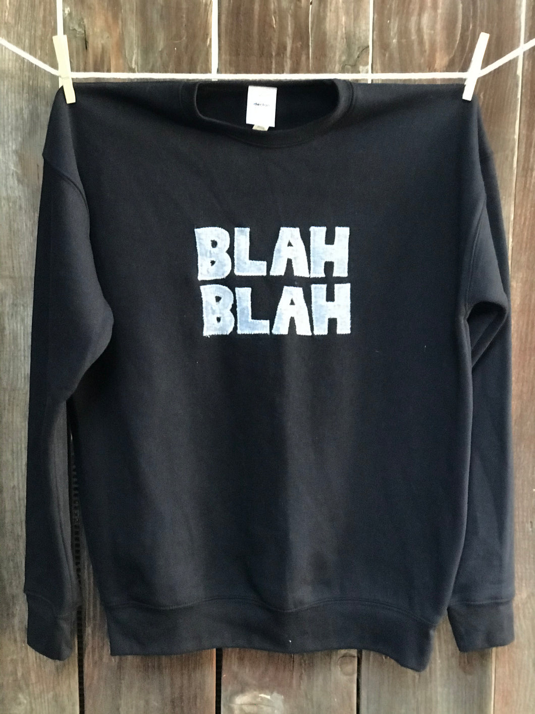 Unisex Blah Blah Fleece Sweatshirt Tee