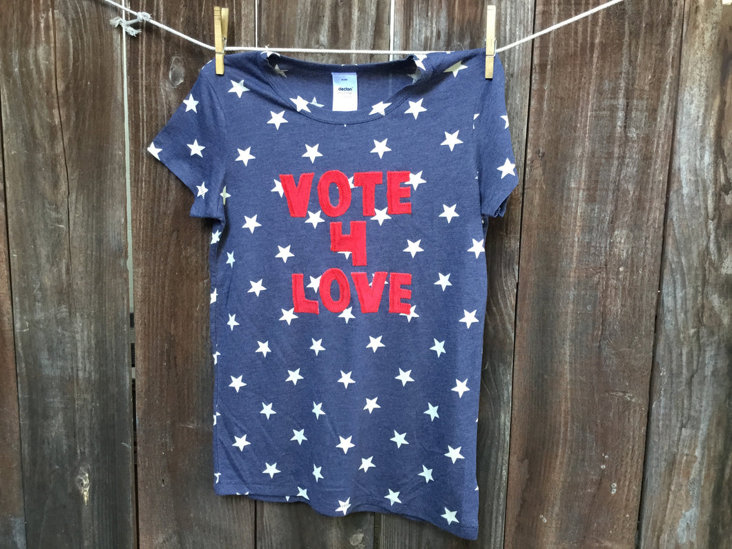 Women's Vote 4 Love Tee