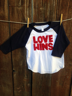 Unisex Love Wins Baseball Tee