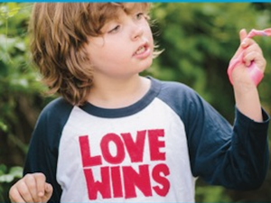 Kids Love Wins Baseball Tee