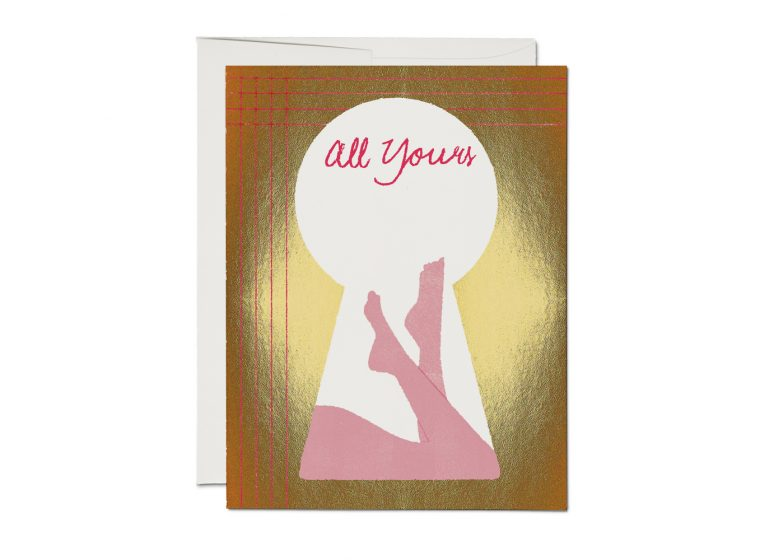 "KEYHOLE ""All Yours"" Card"
