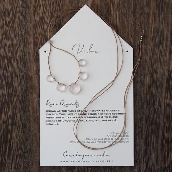House Of Vibe, Rose Quartz Necklace