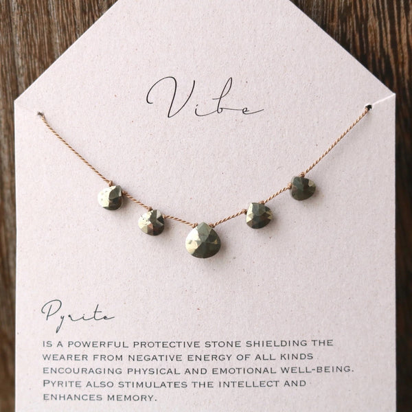 House Of Vibe, pryrite necklace