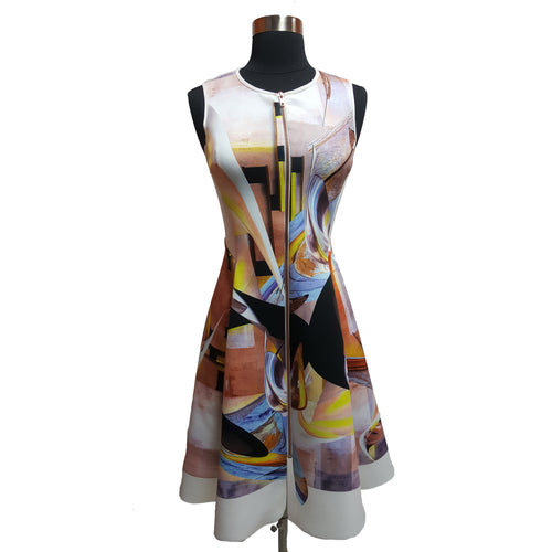 Clover Canyon Pattern Zip-Front Dress
