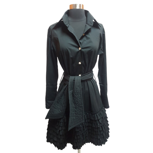 Fine Garments Manufactured Especially by Bell Ruffle Bottom Dress