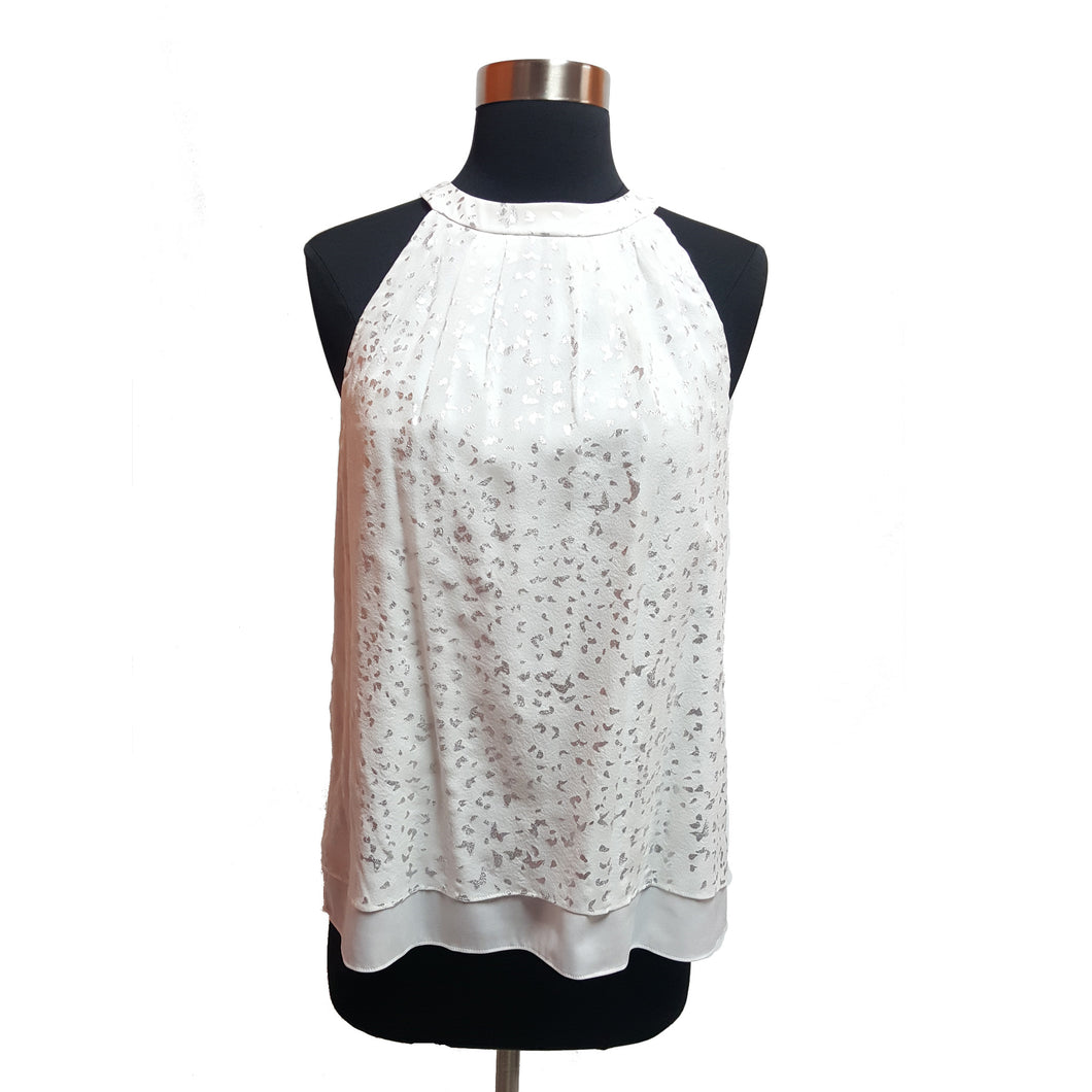 DVF Metallic Speckle Top