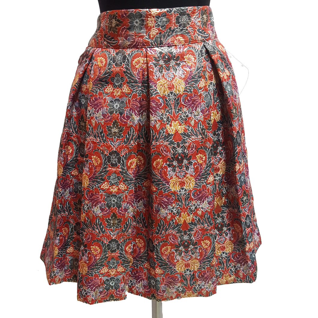 Maeve from Anthropologie Metallic Floral Skirt