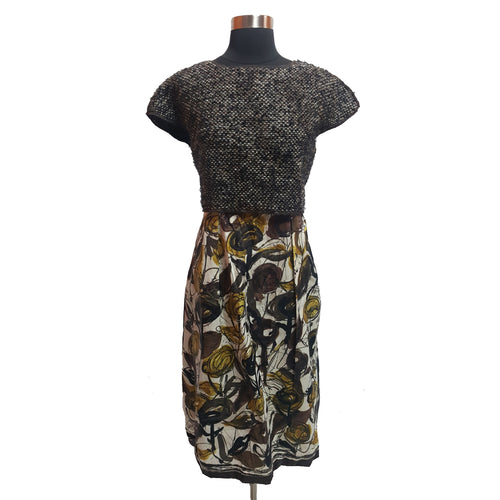 Philosophy di Alberta Ferretti Wool Floral Dress