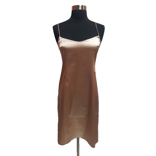 Teri Jon by Rickie Freeman Silk Slip Dress