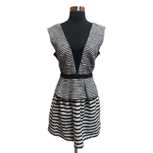 BCBGMAXAZRIA Stripe Peplum Dress