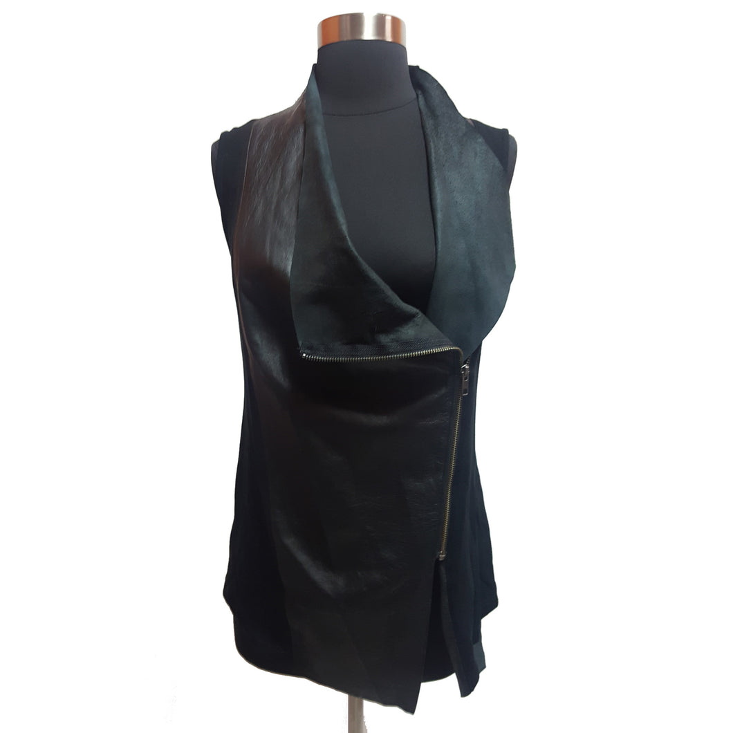 Michael Stars Leather & Knit Vest
