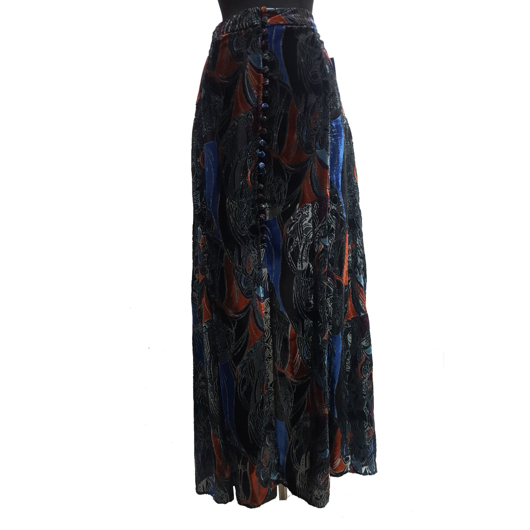 Free People Velvet Maxi Skirt