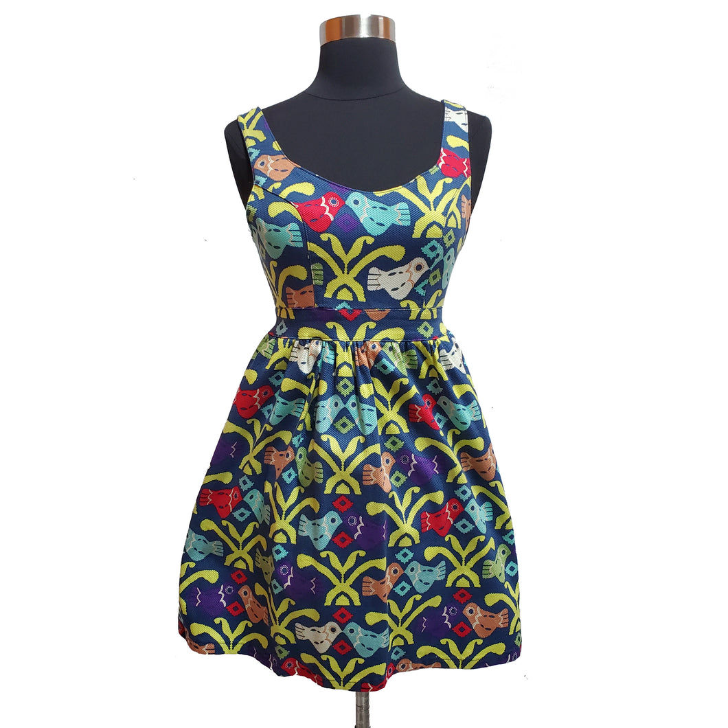 Judith March Bird Print Dress