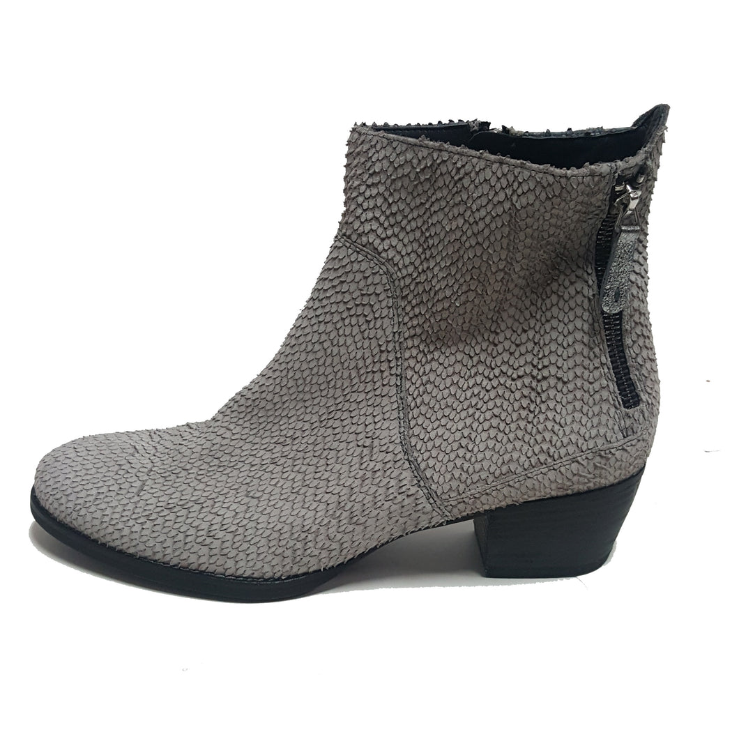 Paul Green Suede Snakeskin Ankle Bootie
