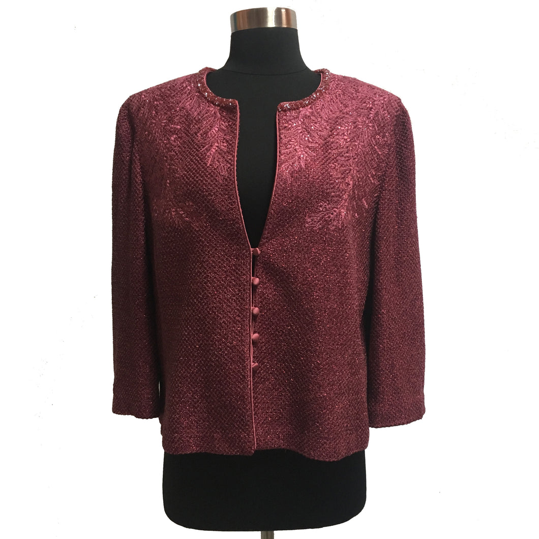 St. John Evening Bead Trim Jacket