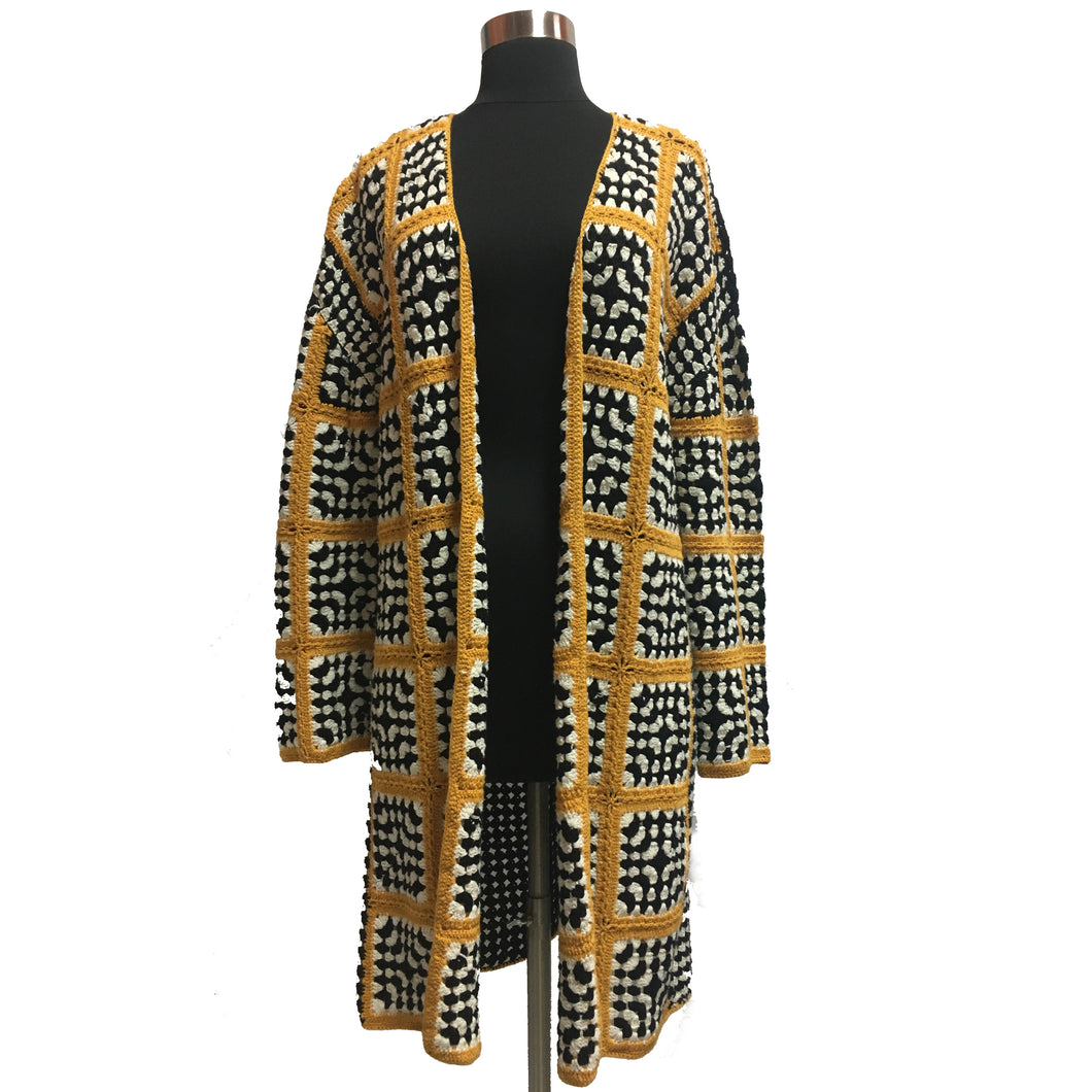 Mango Long Knit Cardigan