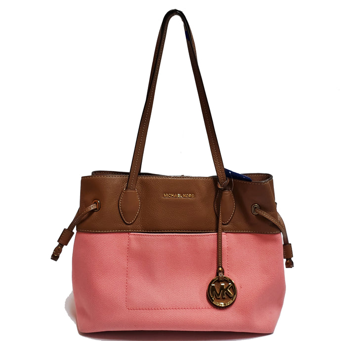 Michael Kors Canvas and Leather Tote