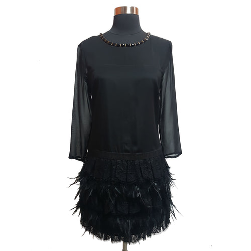 DKNY Feather Bottom Dress