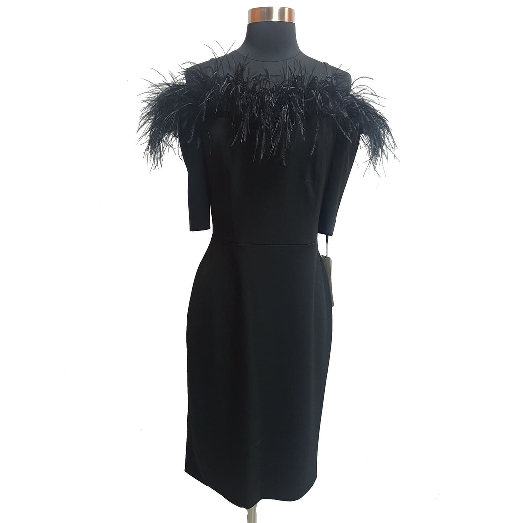 Calvin Klein Feather-Trim Dress