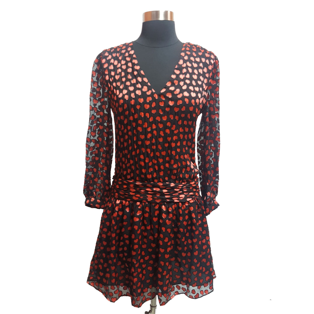 Alice & Olivia Heart Patterned Dress
