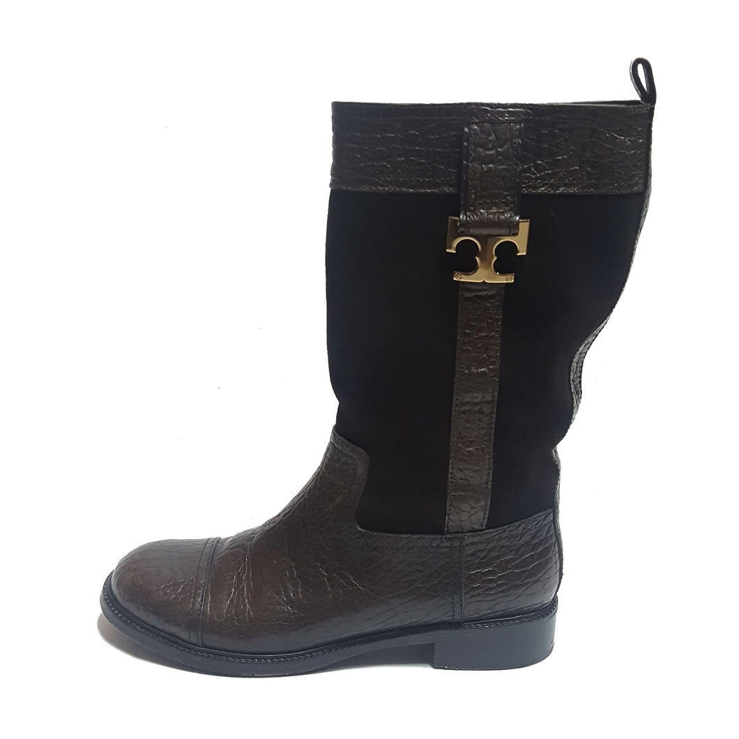 Tory Burch Suede & Leather Boots