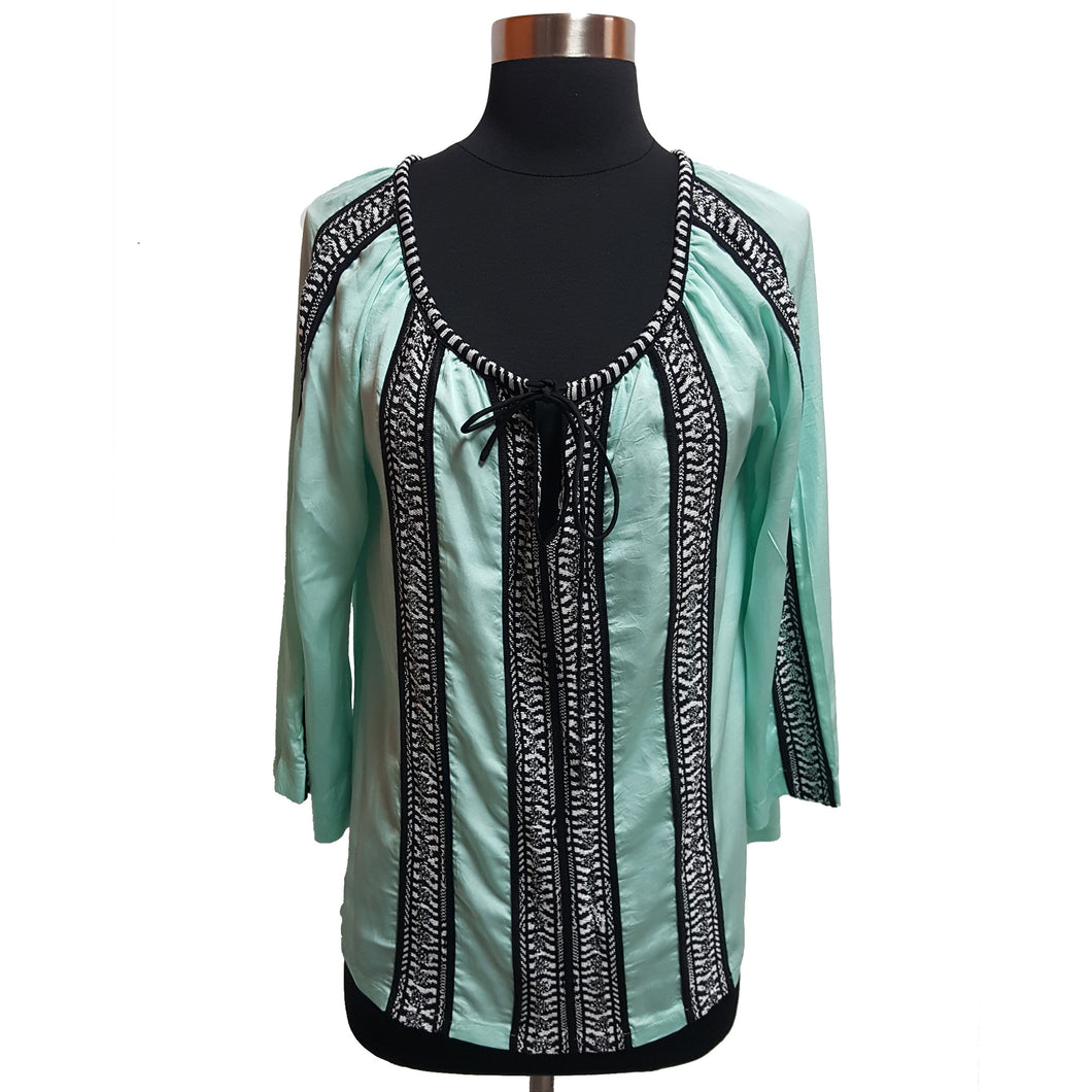 Nanette Lepore Embroidered Peasant Top